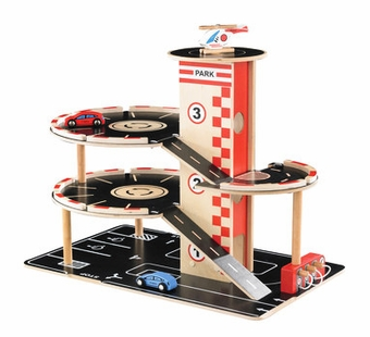 Hape / Educo <br />Wood Park'n Go Garage
