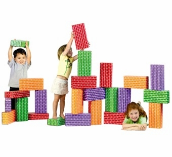 Imagibricks <br />Giant Cardboard Rainbow Blocks 24 Piece Set