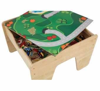 KidKraft <br />2 in 1 Activity Table with Board - Natural