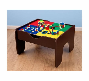 KidKraft <br />2 in 1 Activity Table with Lego Board - Espresso