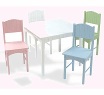 KidKraft <br />Nantucket Table and Chairs (Pastel)