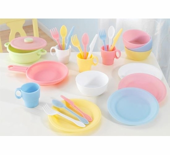 KidKraft <br />Pastel 27 Piece Cookware Set