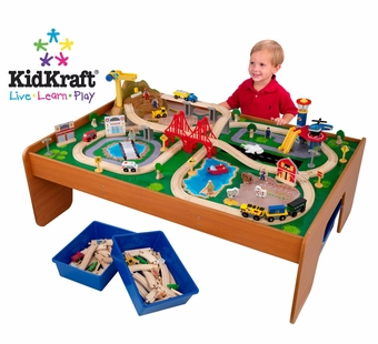 KidKraft<br />Ride Around Town Train Table & Set