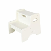 KidKraft <br />Two Step Stool (White)