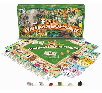 Late for the Sky Games <br />Wild Animalopoly Board Game