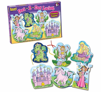 Lauri Puzzles <br />Dot 2 Dot Enchanted Kingdom Lacing