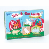 Lauri Puzzles <br />Dot 2 Dot Farm Animals Lacing