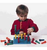 Lauri Puzzles <br />Peg & Pegboard Set