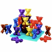 Lauri Puzzles <br />Tall Stacker Mighty Monkey Pegs & Pegboard Set