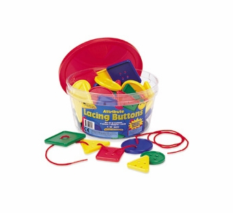 Learning Resources <br />Lacing Buttons in a Tub