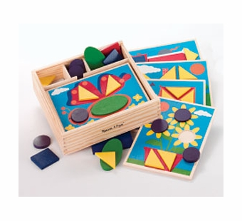 Melissa & Doug <br />Beginner Pattern Blocks