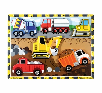 Melissa & Doug <br />Chunky Construction Wooden Puzzle