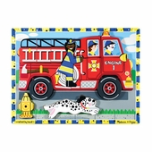 Melissa & Doug <br />Chunky Firetruck Wooden Puzzle