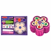Melissa & Doug <br />Decorate Your Own Wooden Flower Chest