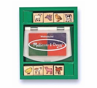 Melissa & Doug <br />Farm Animals Mini Stamp Set
