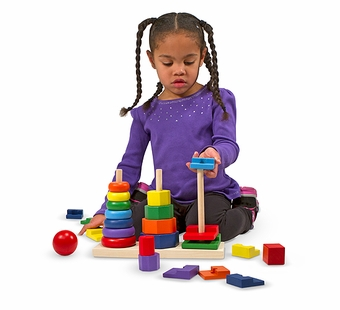 Melissa & Doug <br />Geometric Stacker