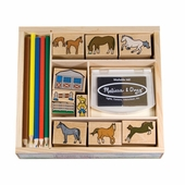 Melissa & Doug <br />Horses Stamp Kit