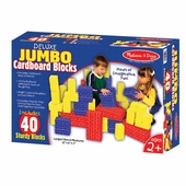 Melissa & Doug <br />Jumbo 40 piece Cardboard Blocks