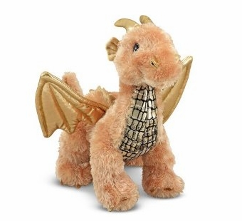 Melissa & Doug <br />Luster Dragon Stuffed Animal