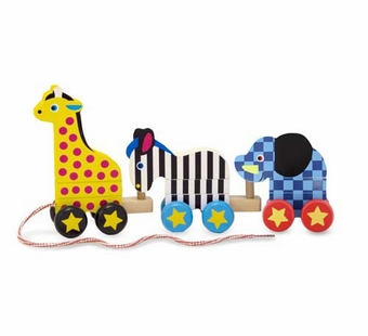 Melissa & Doug <br />Pull Along Zoo Animals