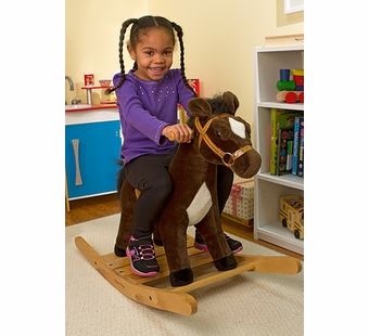 Melissa & Doug <br />Rock and Trot Plush Rocking Horse