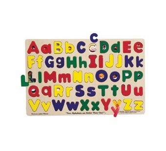 Melissa & Doug <br />See Inside ABC upper/lower Wooden Puzzle