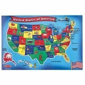 Melissa & Doug <br />USA Map Floor Puzzle
