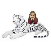 Melissa & Doug <br />White Tiger Stuffed Animal