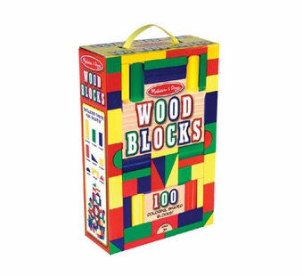 Melissa & Doug <br />Wood 100 piece Block Set