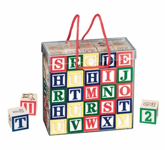 Melissa & Doug <br />Wood ABC/123 Blocks