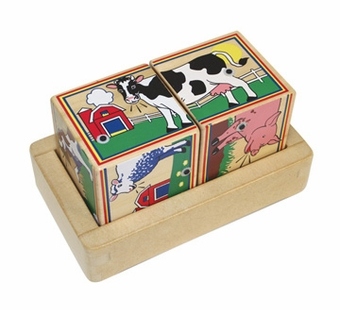 Melissa & Doug <br />Wood Farm Sound Blocks