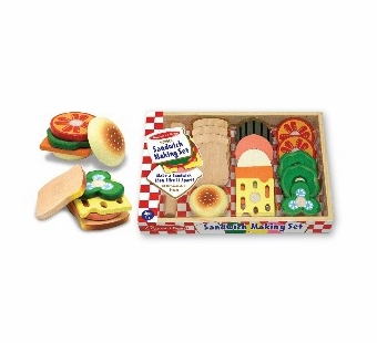 Melissa & Doug <br />Wood Sandwich Making Set