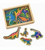 Melissa & Doug <br />Wooden Dinosaur Magnets