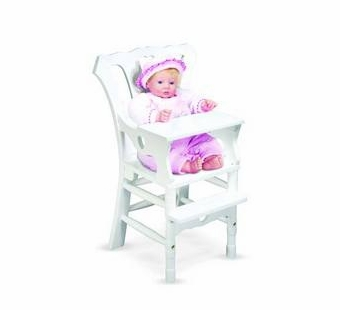 Melissa & Doug <br />Wooden Doll High Chair