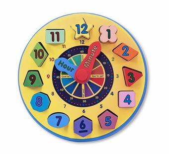 Melissa & Doug <br />Wooden Shape Sorting Clock