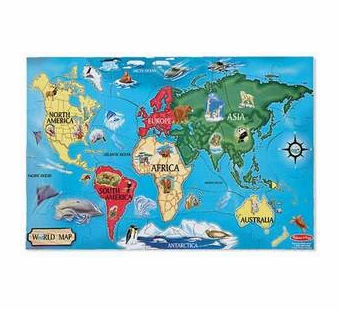 Melissa & Doug <br />World Map Floor Puzzle