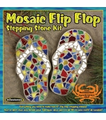 "Milestones <br />Kids Flip Flop Mosaic Stepping Stone Kit (12"")"