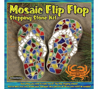 Milestones <br />Kids Flip Flop Mosaic Stepping Stone Kit (12