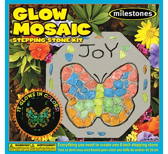 Milestones <br />Kids Glow Mosaic Stepping Stone Kit