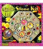"Milestones <br />Kids Marble Art Stepping Stone Kit (8"")"