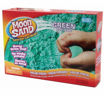Moon Sand <br />Galaxy Green Shape it Sand 5 lb.