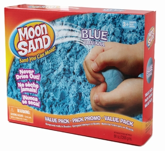 Moon Sand <br />Space Blue Shape it Sand 5 lb.