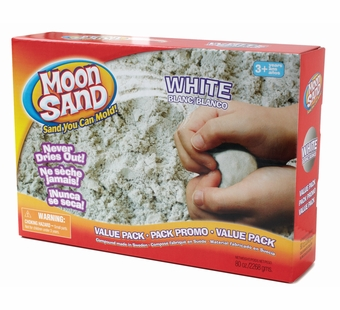 Moon Sand <br />White Shape it Sand 5 lb.
