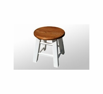 Nilo <br />Wooden Stool