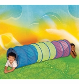 Pacific Play Tents <br />See Thru Blue Multi-Color 6' Tunnel