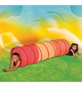 Pacific Play Tents <br />See Thru Red Multi-Color 6' Tunnel