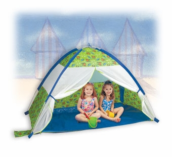 Pacific Play Tents <br />Under the Sea Cabana with Zippered Mesh Front