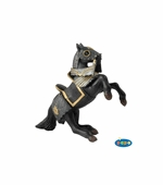 Papo <br />Armored Reared Up Horse Black Figurine #39276