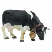 Papo <br />Black & White Grazing Cow #51150