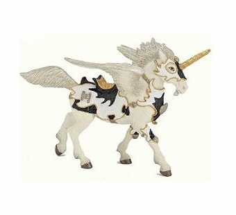 Papo <br />Black & White Unicorn Pegasus #38829
